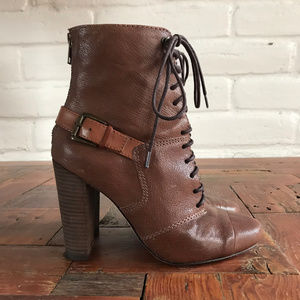 Anthropologie Tracy Reese Rebel Lace Up Booties
